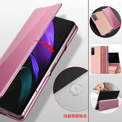 AU20.86 • Buy For Samsung Galaxy Z Fold 2 5G Smart Flip Plating Mirror Screen Touch Case Cover