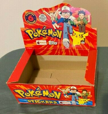 AU19.99 • Buy Pokemon 1999 Topps Sticker Empty Booster Pack Box Not Card