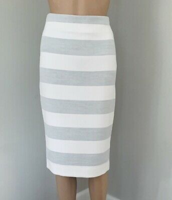 AU20 • Buy Viktoria & Woods Women's Grey Viktoria + Woods Scorpio Striped Tube Skirt Size 0