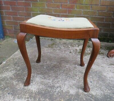 £55 • Buy Antique Stool On Cabriole Legs Edwardian / Victorian