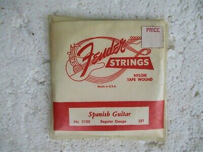 $ CDN25.05 • Buy Vintage Fender Nylon Classical Guitar Strings, 1950's, Nos