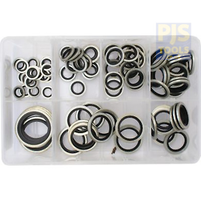 £19.50 • Buy Assorted Selection Kit Box Of 90 1/8-1in BSP Dowty Bonded Seal Washers