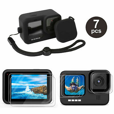 $ CDN13.99 • Buy Accessories Kit For GoPro Hero 9 Black Silicone Protective Case+Screen Lens Film