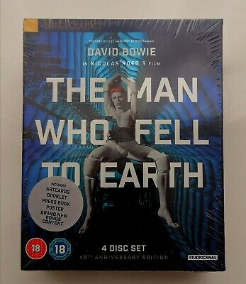 The Man Who Fell To Earth - Blue Ray, 4 Disc, Ltd 45th Anniversary Ed • 32.99£