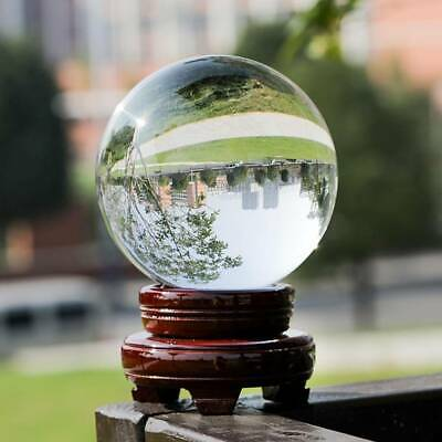 £4.99 • Buy 60mm Glass Clear Crystal Ball Magic Healing Sphere Photo Decor Prop +Stand Home