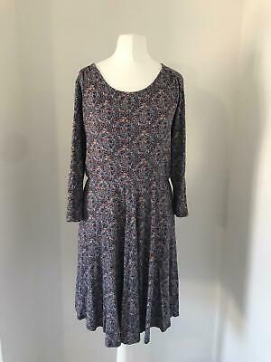Brora Dress Size 14 Floral Knee Length Jersey Dress Vintage • 24.99£