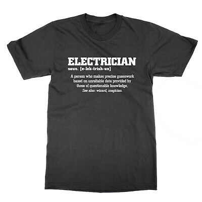 £11.99 • Buy Electrician Definition T-shirt Funny Tee Job Sparky Statement Present Gift