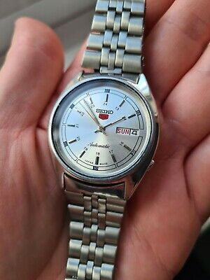 $ CDN37.98 • Buy Vintage Silver 1985 Seiko 5 6309-8800 Mens Auto Mechanical Day/Date Watch 80s