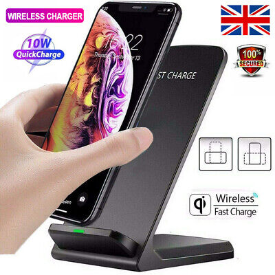 £9.98 • Buy Qi Wireless Fast Charging Dock Charger Phone Holder For IPhone 12 11 XS 8 7 6 SE