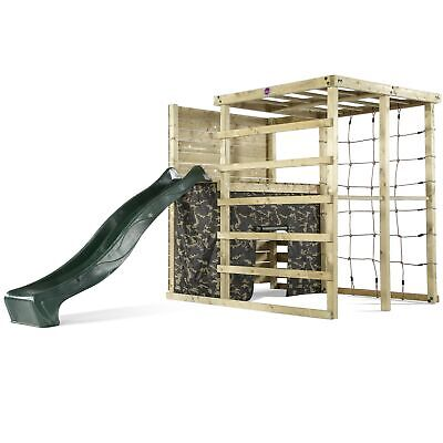 £699.99 • Buy Plum Wooden Climbing Frame Cube Play Centre With Slide, Camouflage & Rock Wall