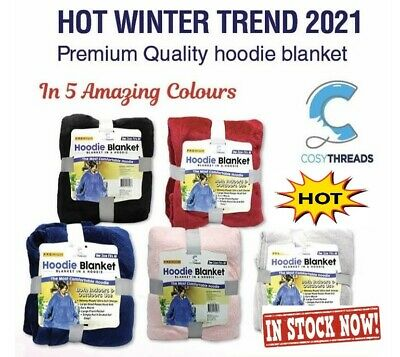 $ CDN28.96 • Buy Winter Hoodie Blanket  - Great Colours  One Size Fits Most