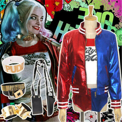 $ CDN28.11 • Buy Suicide Squad Harley Quinn Suit Halloween Cosplay Costume Outfits Fancy Dress