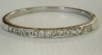 AU160 • Buy GENUINE 9ct White Gold Diamond Ring Size N