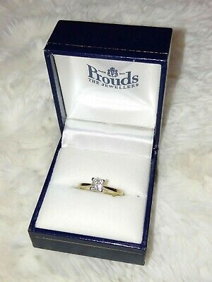 AU350 • Buy Prouds Ladies Certified 9ct Gold And Diamond Engagement Ring Size L Size 6