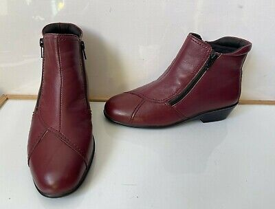 Pavers Double Zip Comfy Smart Leather Boots Size UK 5 EU 38 Wide • 30£