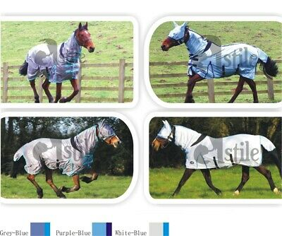 £29.65 • Buy Horse Fly Rug All In One Belly And Tail Flap With Elastic Neck Free Fly Mask