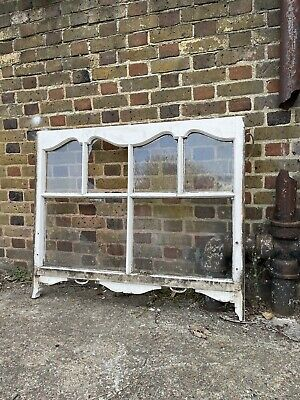 £165 • Buy Reclaimed Old Edwardian Arch Panel Wooden Sash Window Rare Wood Carving