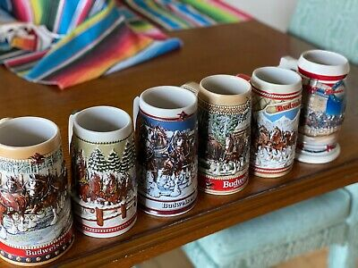 $ CDN31.25 • Buy Lot  Of 6 Budweiser Steins EC.... Look At Pics