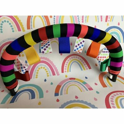 £12.50 • Buy Rainbow Bumper Bar Cover + Taggies To Fit Bugaboo Donkey Cameleon ICandy Peach