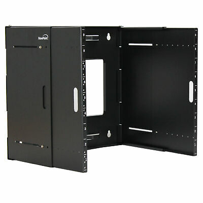 £53.63 • Buy 9U Wall Mount Bracket Extendable Network Equipment Rack Threaded Standard 19