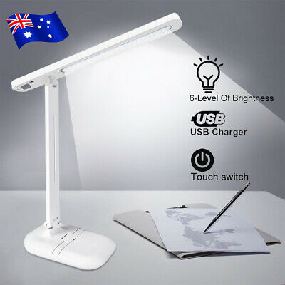 AU16.95 • Buy Table Lamp Usb Touch Dimmable Led Bedside Desk Adjustable Bright Foldable Light