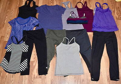 $ CDN101.23 • Buy LULULEMON Size 8 - Lot 13 Tank Tops Tee Leggings Crops Bra NICE!
