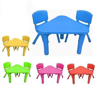 £27.99 • Buy Toddler Children Chairs And Table Set Plastic Strong Ideal Study Indoor Outdoor