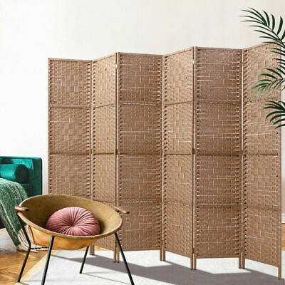 AU169.69 • Buy Artiss 6 Panel Room Divider Screen Privacy Rattan Timber Dividers Stand Natural