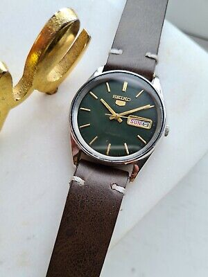 $ CDN50.09 • Buy Vintage GREEN 1983 Seiko 5 Automatic Mens Japan Watch Day/Date 80s 6309-5810