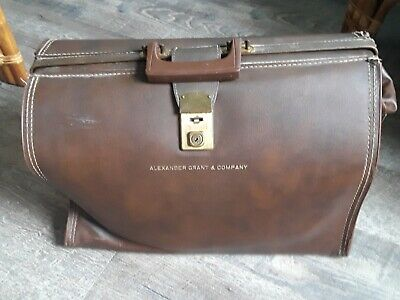 £95.09 • Buy VTG  Leather Briefcase Attache Case Doctor's Bag Alexander Grant Company Cheney