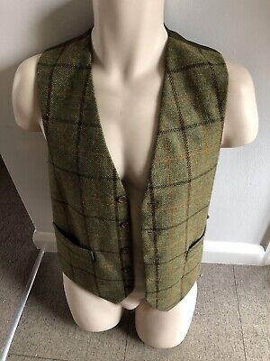£14 • Buy Crowther Country Gent Green 100% Wool Waistcoat