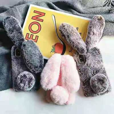 AU11.98 • Buy For OPPO AX5 A52 A72 AX7 A73 A8 Soft Fluffy Furry Bunny Rabbit Plush Case Cover