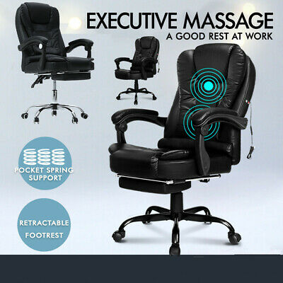 AU109.99 • Buy Massage Chair Office Chair Gaming Chair Massage Vibration Recliner PU Leather .
