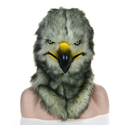 £151.52 • Buy Gray Eagle Mascot Costume Can Move Mouth Head Suit Halloween Outfit Cosplay Xmas