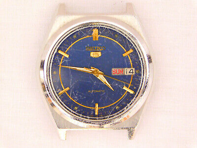 $ CDN14.99 • Buy Vintage Seiko 5 7009-876A Blue Dial Automatic Day Date Stainless Steel Watch
