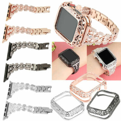$ CDN25.71 • Buy Diamond Band Strap+Protective Case For Apple Watch Series 6 5 4 3 2 1 38mm-44mm