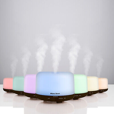 AU44.95 • Buy Milano Decor Mood Light Diffuser 500ml Ultrasonic Humidifier With 3 Pack Oils