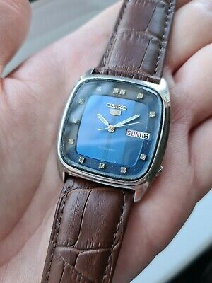 $ CDN43.16 • Buy Vintage BLUE 1980 Mens SEIKO 5 Automatic Day Date Watch 6309-5280 80s