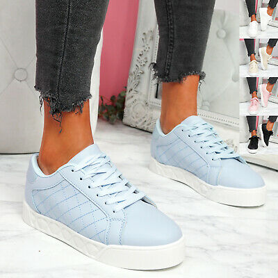 $ CDN28.97 • Buy Womens Ladies Platform Trainers Plimsolls Sneakers Lace Up Women Shoes Size Uk