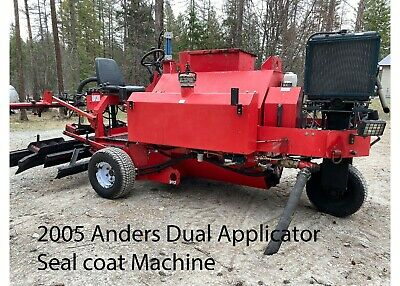$21500 • Buy Asphalt Sealcoating Machine With Squeegees And Hydraulic Spray Pump LOW HOURS