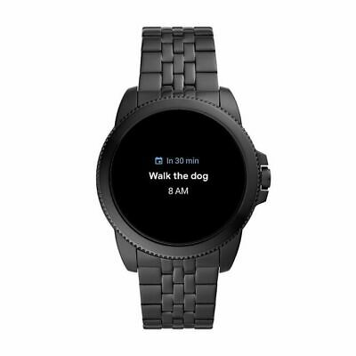 AU242.30 • Buy Fossil Gen 5E 44mm Case With Link Band Smart Watch For Men - Black Stainless...