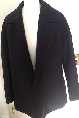 £19.99 • Buy Topshop Boutique Navy Lightweight Wool Mixed Oversize Jacket Size 10/12