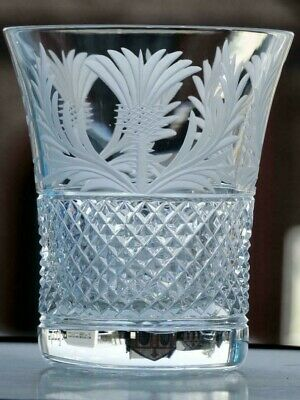 £35 • Buy Thistle Design Large Whisky Glass Fine Quality Lead Crystal
