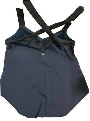$ CDN24.93 • Buy Lululemon Logo Strap Tank Top Black Racerback Built In Bra Size 8