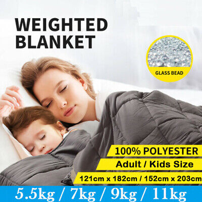 AU58.99 • Buy Weighted Blanket Heavy Gravity Deep Relax 5/7/9/11KG For Adult Kid Double Queen