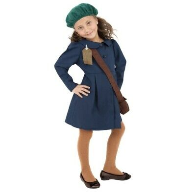 £12.99 • Buy Smiffy's Wartime Evacuee Girl Blue History Book Day Fancy Dress Costume - LARGE