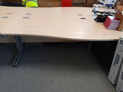 £50 • Buy Right Handed Wave Desk Curve Home Working Office