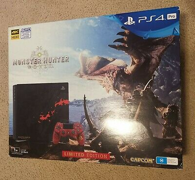 AU700 • Buy PS4 Pro 1TB Monster Hunter World Rathalos Limited Edition With Controller