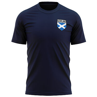 £9.95 • Buy Scotland Shield Badge T Shirt Football Country Scottish Footy Fan St Andrew Gift