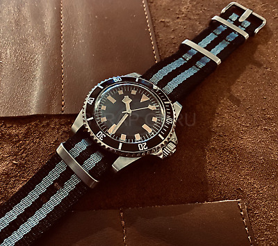 £58 • Buy Automatic Vintage Retro Look Submariner Snowflake Homage Watch Bond 007 Fabric
